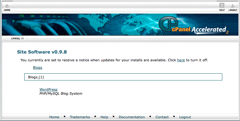 cPanel Site Software