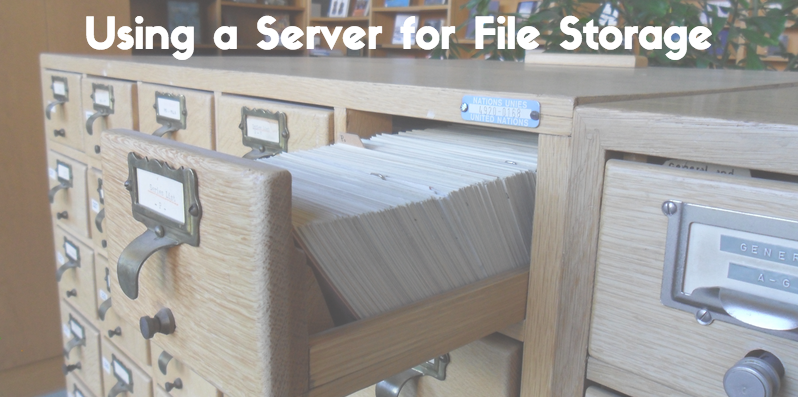Using a File Server image
