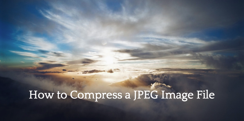 Compress a JPG image
